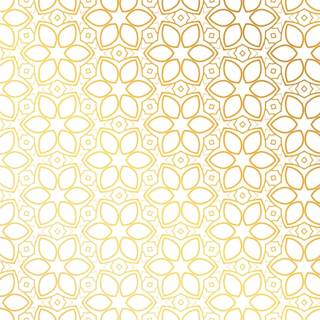 fleur d'or conception motif de fond Vecteur gratuit