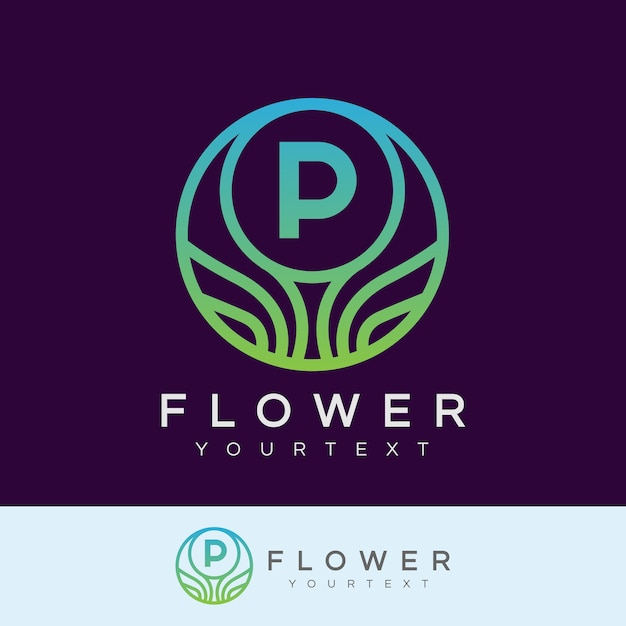 Fleur Initiale Lettre P Logo Design Télécharger Des