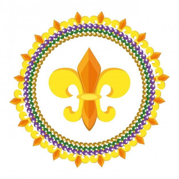 Fleur De Lis Icon Vecteur Premium