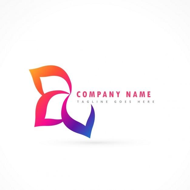 Fleur Logo Modèle De Conception Vecteur gratuit