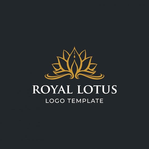 Fleur de lotus de luxe Vecteur Premium