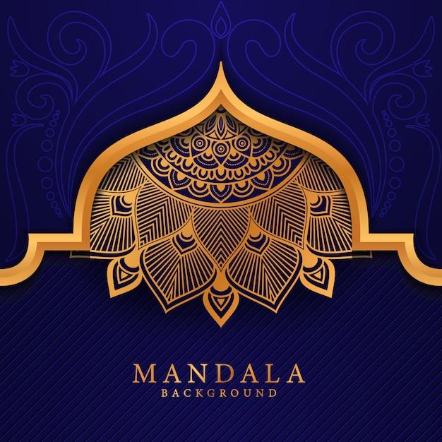 Fleur Luxe Mandala Fond Arabesque Style Vecteur Premium