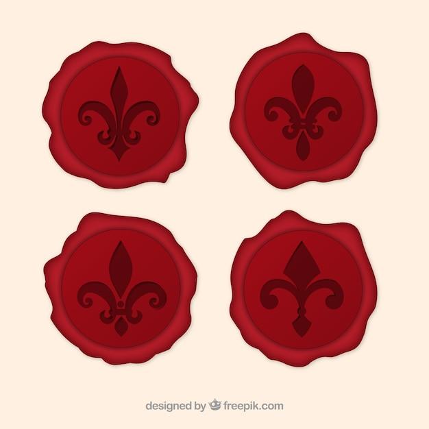 Fleur De Lys Sceaux Vectoriel Vecteur Premium