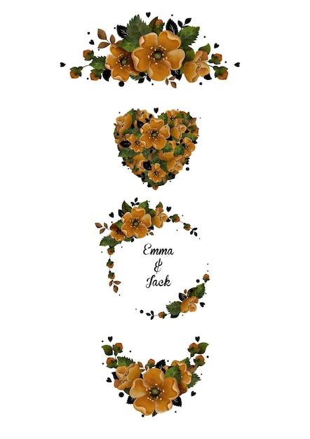 Fleur persane Vecteur Premium