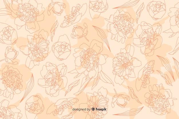 Fleur réaliste sur fond pastel Vecteur gratuit