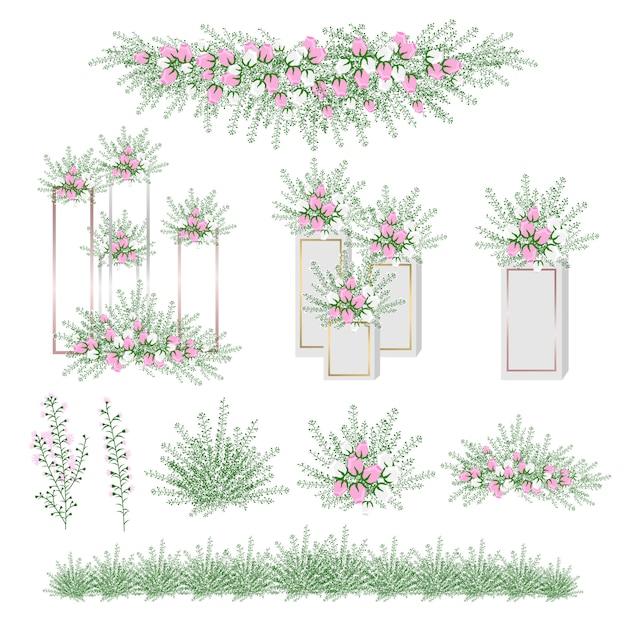 Fleur réaliste pour la décoration de mariage et fête. Vecteur Premium