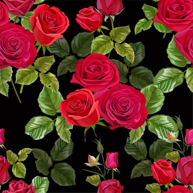 Fleur rose rouge pour les cartes de vœux et les invitations du mariage Vecteur Premium