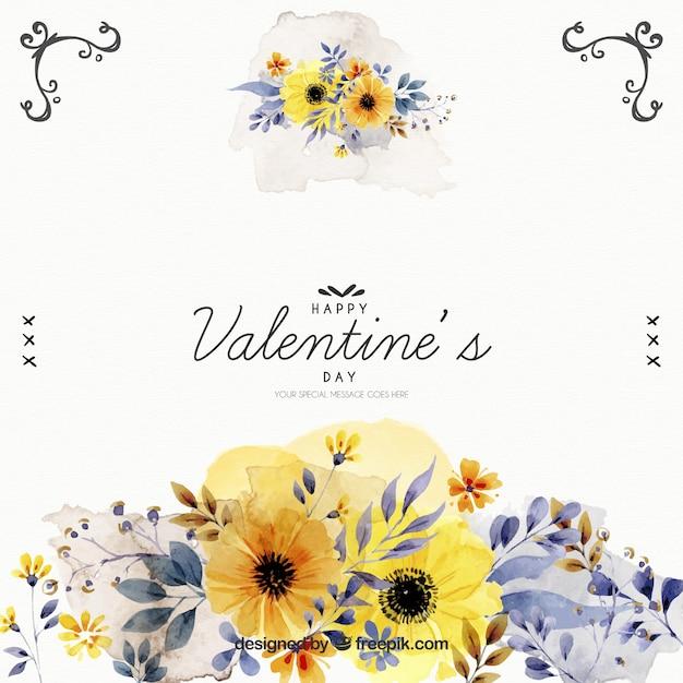 Fleurs aquarelle de valentine background t l charger des for Aquarelle fleurs livraison gratuite