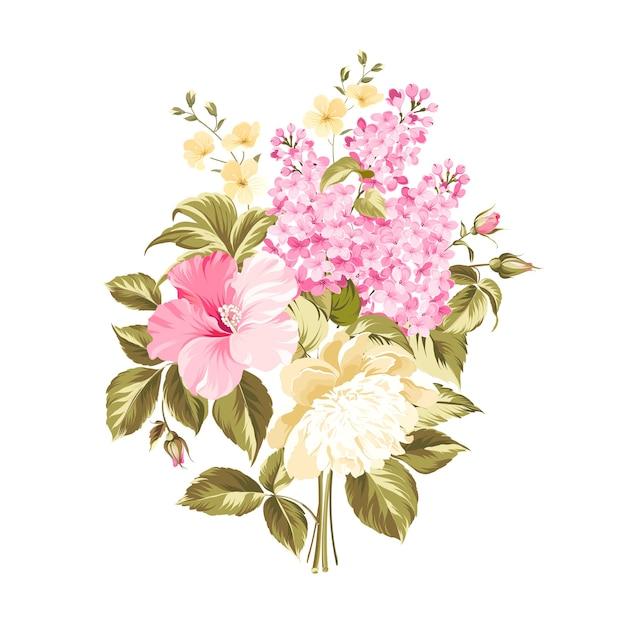 Fleurs De Bouquet De Printemps Isolés. Vecteur gratuit