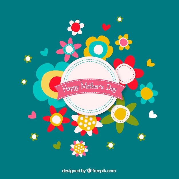 Les fleurs du jour de mère bouquet graphiques gratuits Vecteur gratuit
