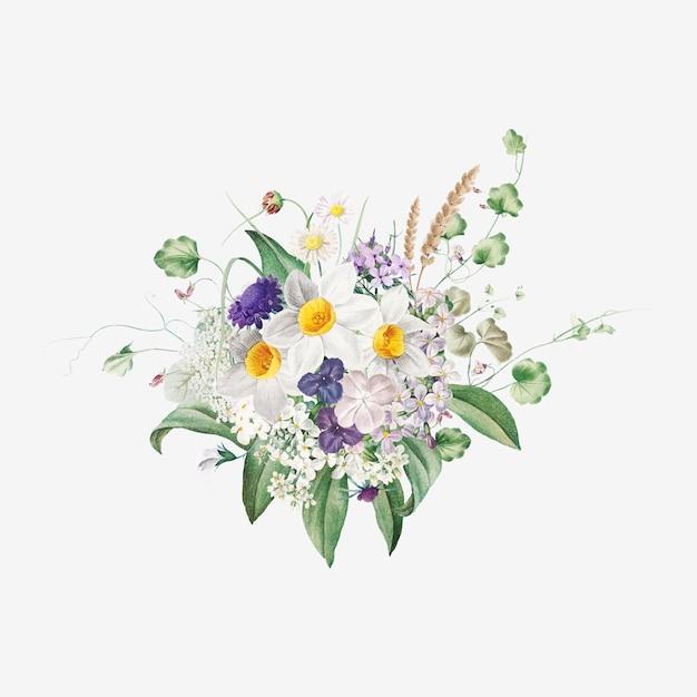 Fleurs d'été Vecteur gratuit