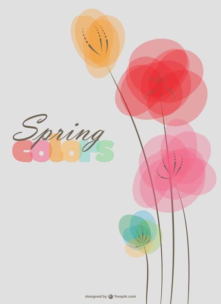Fleurs de printemps fond Vecteur gratuit