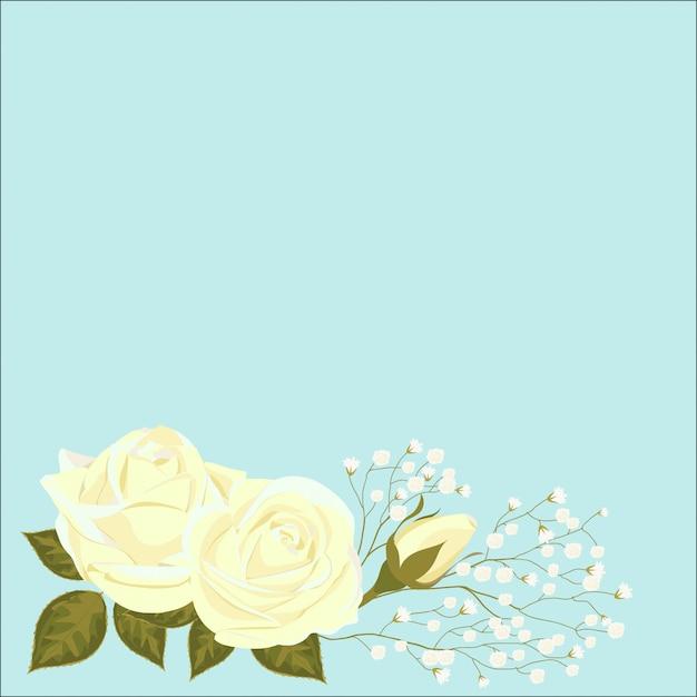 Fleurs roses avec un bourgeon non soufflé Vecteur Premium