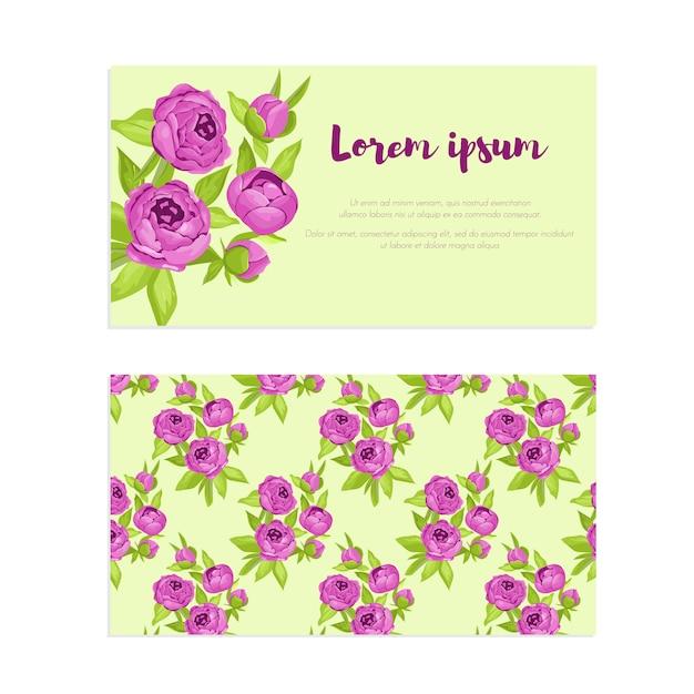 Fleurs vintage violettes dans le cadre Vecteur Premium