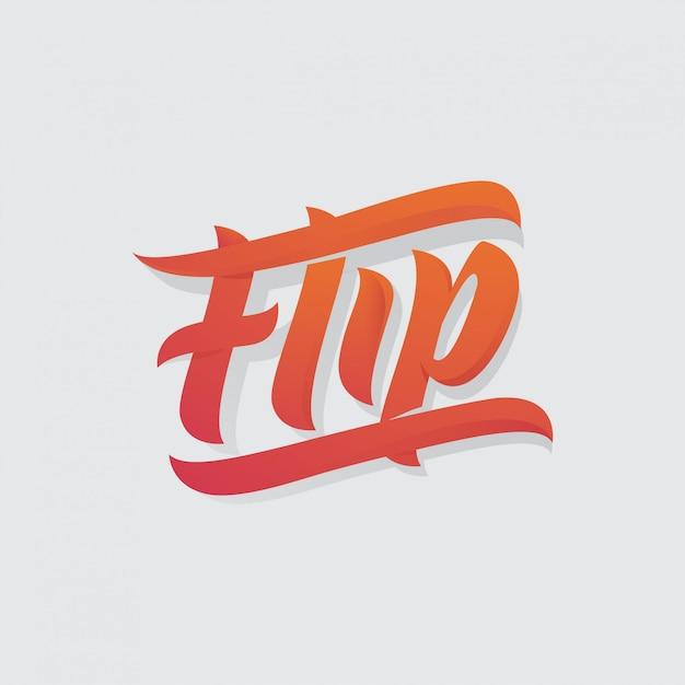 Flip lettrage Vecteur Premium