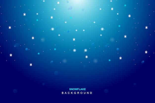 Flocon de neige bleu en fond de saison d'hiver Vecteur Premium