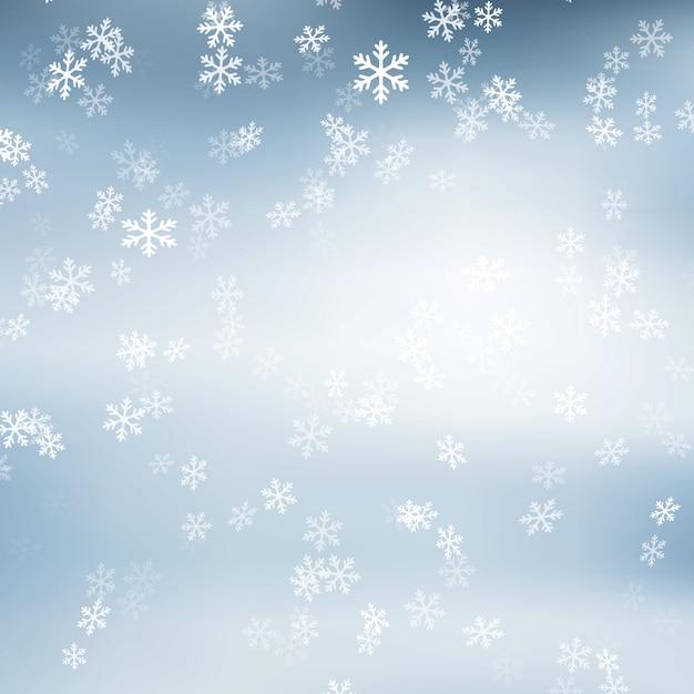 Flocon de neige de noël Vecteur gratuit