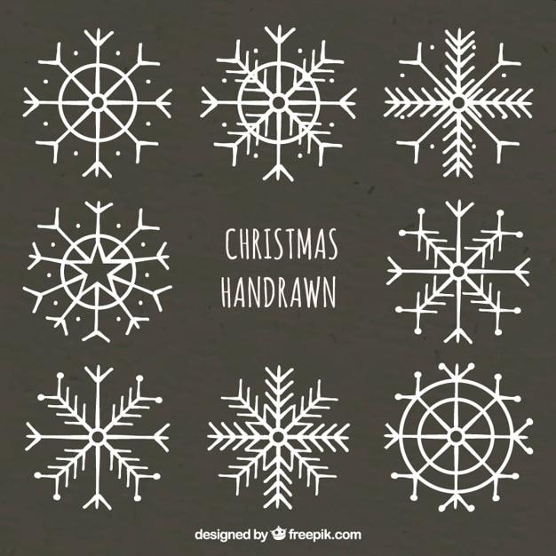 Flocons de neige dessin s la main sur tableau noir for Ecrire sur un tableau noir