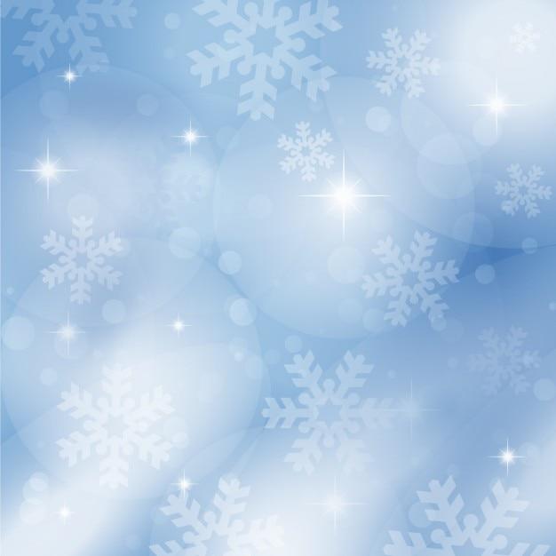 Flocons de neige sur un fond bleu bokeh t l charger des - Photos de neige gratuites ...