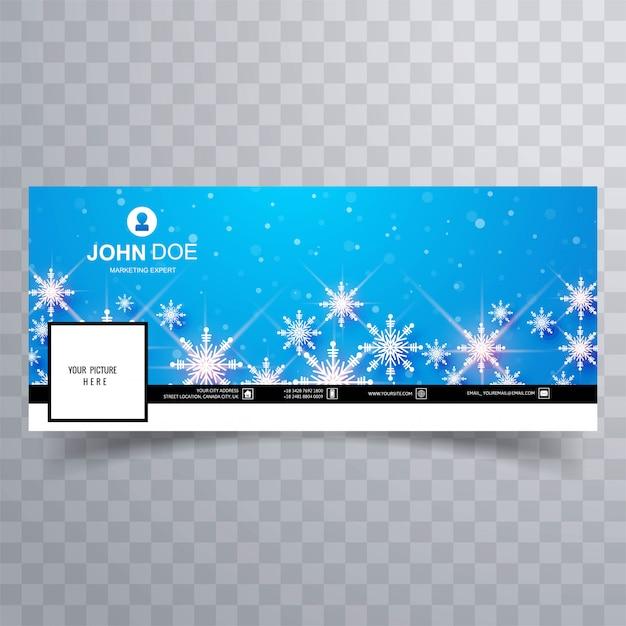 Flocons De Neige De Noël Avec Couvercle Vecteur gratuit