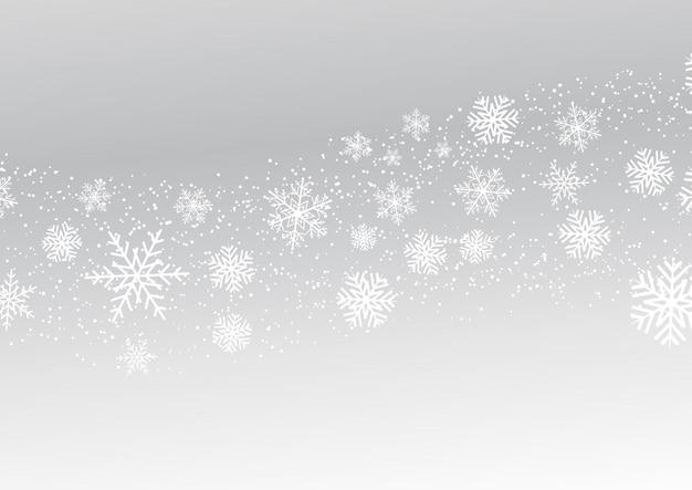 Flocons de neige de noël Vecteur gratuit