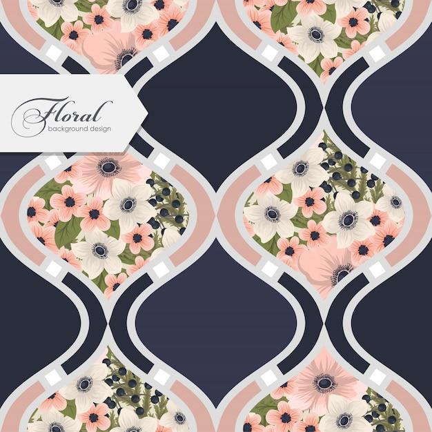 Floral pattern sans couture avec des fleurs Vecteur gratuit