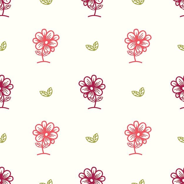 Floral pattern sans soudure avec des éléments de feuille dessinés à la main de style ethnique. Vecteur Premium
