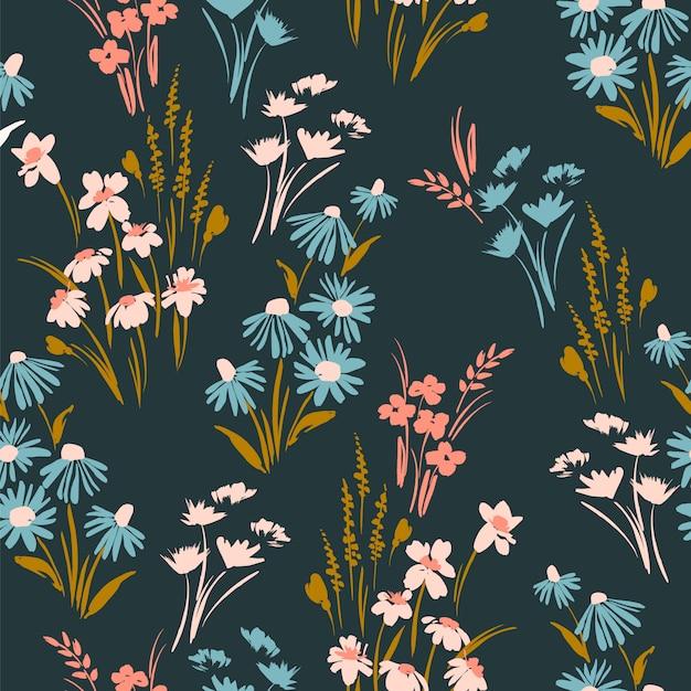 Floral pattern sans soudure Vecteur Premium
