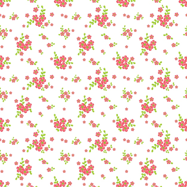 Floral Pattern Sans Soudure. Vecteur Premium