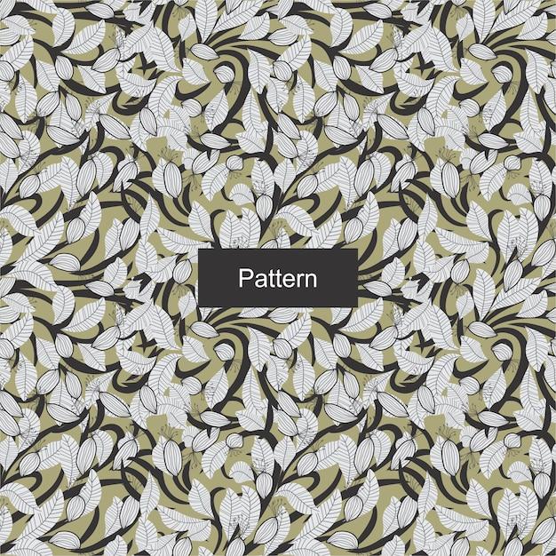 Floral seamless pattern Vecteur Premium