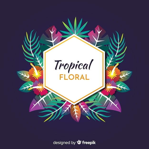 Floral tropical Vecteur gratuit