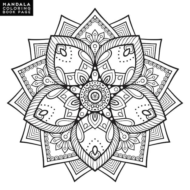 flower mandala l ments d coratifs vintage mod le oriental illustration vectorielle motifs. Black Bedroom Furniture Sets. Home Design Ideas