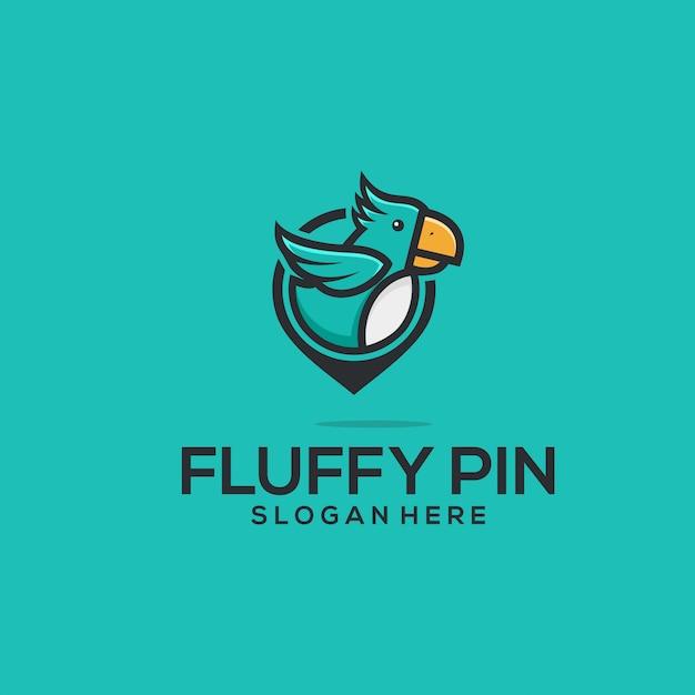 Fluffy pin Vecteur Premium