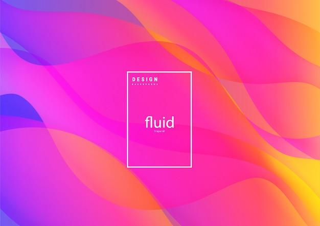 Fluides abstraits liquides formes organiques fond coloré ondulé Vecteur Premium