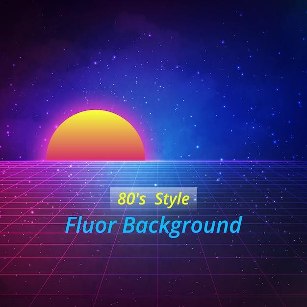 Fluor background design Vecteur gratuit
