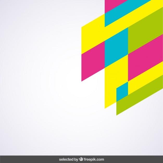 Fluor couleurs d'angle géométrique Vecteur gratuit
