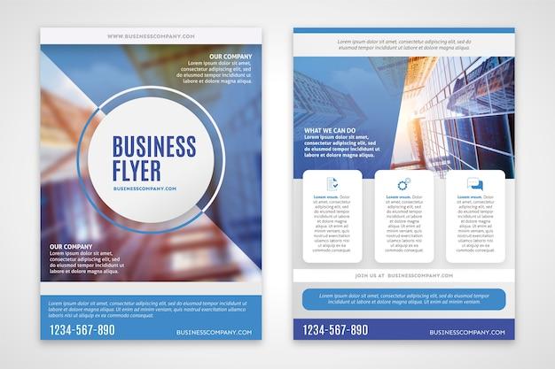 Flyer D'affaires Avec Bâtiment Flou Vecteur gratuit