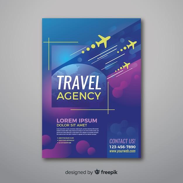 Flyer agence de voyage Vecteur gratuit