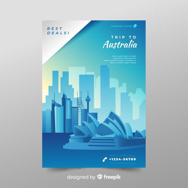 Flyer australie Vecteur gratuit