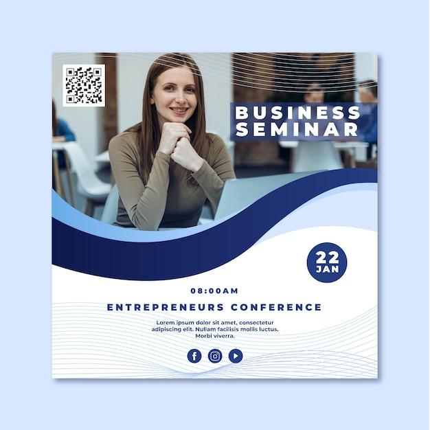 Flyer Carré De Séminaire D'entreprise Vecteur gratuit
