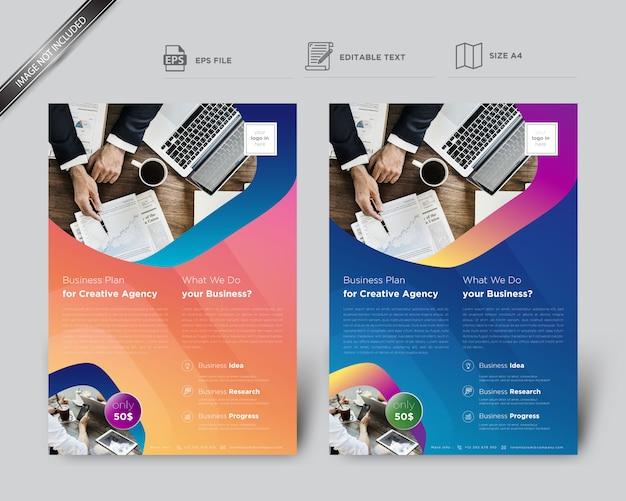 Flyer créatif pour modèle d'affaires Vecteur Premium