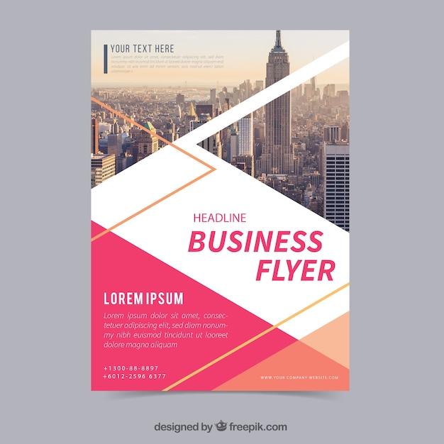 Flyer d'affaires plat Vecteur gratuit
