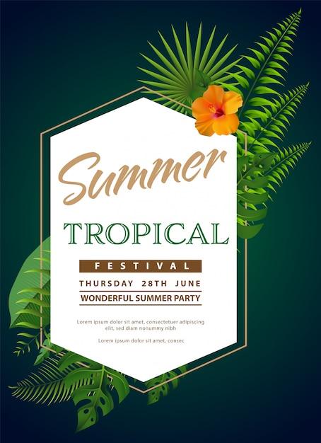 Flyer d'été à la mode Vecteur Premium