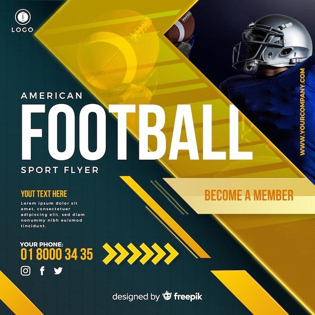 Flyer Football Américain Vecteur gratuit