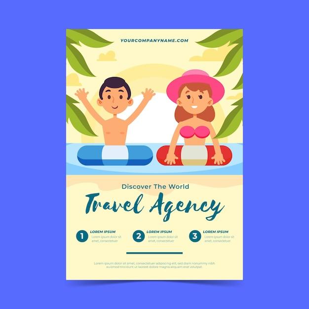 Flyer Illustré De Vente De Voyage Vecteur gratuit
