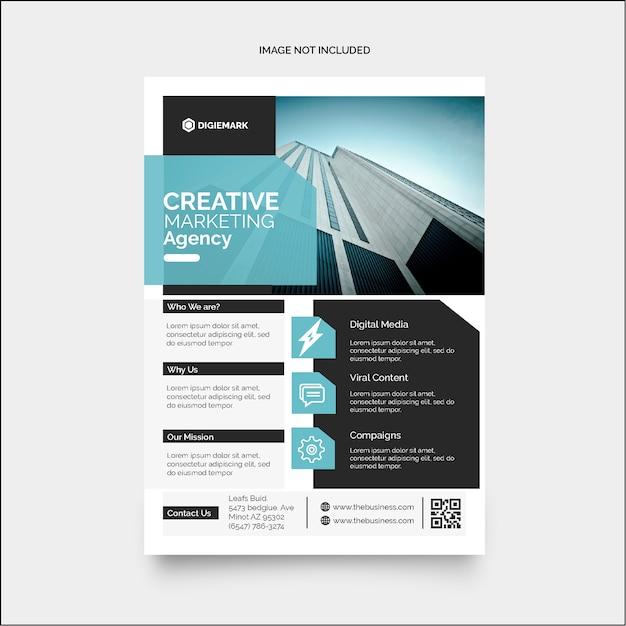 Flyer Marketing D'entreprise Coloré Vecteur Premium