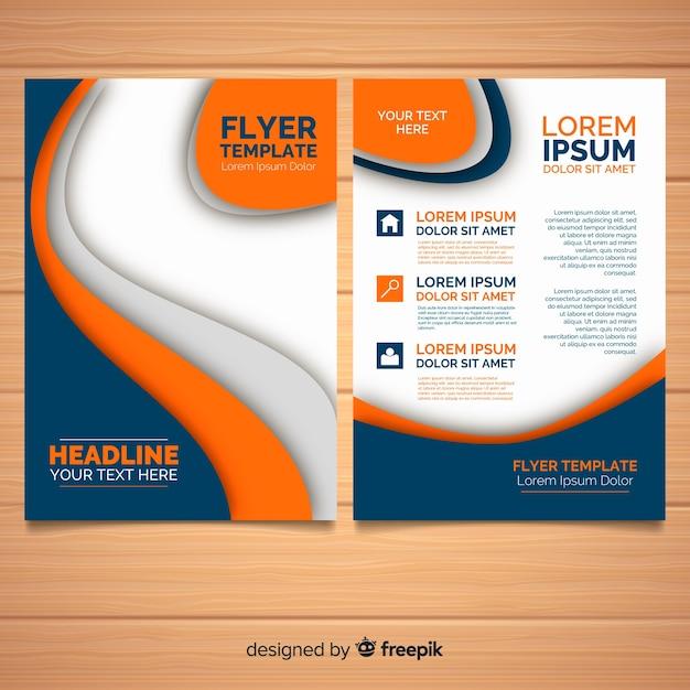 Flyer moderne avec des formes abstraites Vecteur gratuit