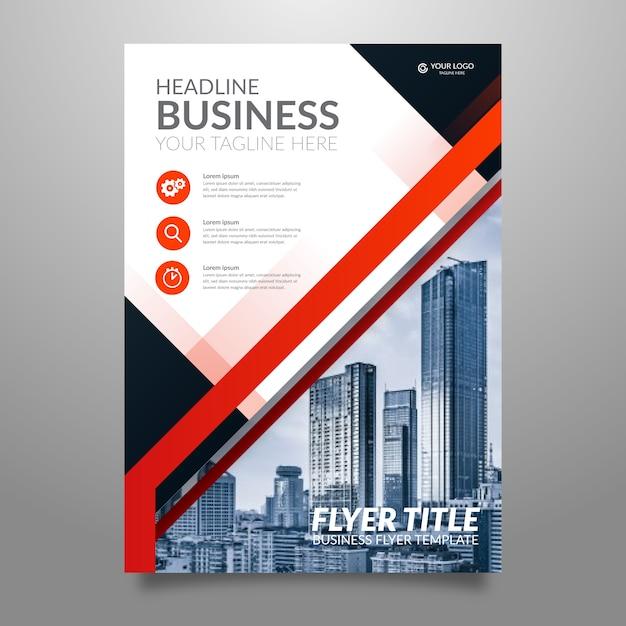 Flyer moderne pour les entreprises dans un style abstrait Vecteur gratuit
