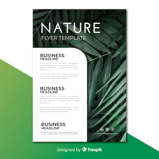 Flyer nature Vecteur gratuit