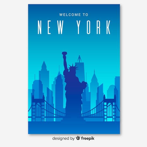 Flyer new york Vecteur gratuit